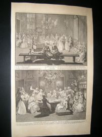 Picart C1730 Folio Antique Print. Religious Catholic Ceremonies, Amsterdam